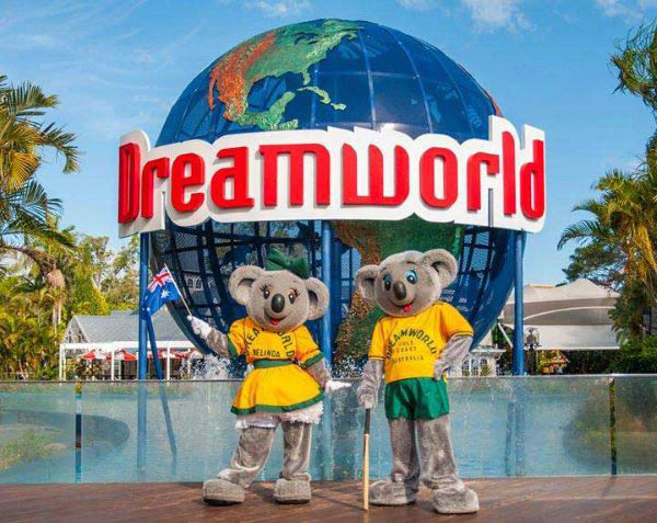 Dreamworld Theme park on Queensland's Gold Coast